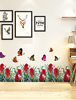 cheap -Butterfly Wall Stickers Decorative Wall Stickers, PVC Home Decoration Wall Decal Wall Decoration / Removable