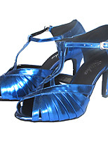 cheap -Women's Dance Shoes Latin Shoes Heel Slim High Heel Customizable Black / Bronze / Blue