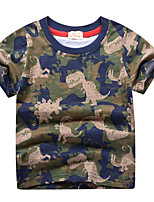 cheap -Kids Boys' Street chic Animal Short Sleeve Tee Army Green