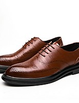 cheap -Men's Summer Daily Oxfords PU Black / Brown