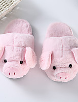 cheap -Adults' Kigurumi Pajamas Slippers Anime Piggy / Pig Onesie Pajamas Plush Pink Cosplay For Men and Women Animal Sleepwear Cartoon Festival / Holiday Costumes