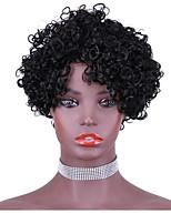 cheap -Remy Human Hair Wig Short Curly Kinky Bob Natural Natural Fashion Comfortable Capless Women's Natural Black #1B Black / Strawberry Blonde Black / Burgundy 8 inch / For Black Women