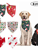 cheap -Dog Cat Bandanas & Hats Dog Bandana Dog Bibs Scarf Cartoon Christmas Party Cute Christmas Party Dog Clothes Adjustable Costume Polyster L