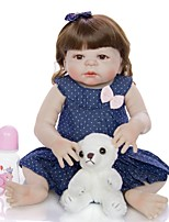 cheap -KEIUMI 22 inch Reborn Doll Baby & Toddler Toy Reborn Toddler Doll Baby Girl Gift Cute Washable Lovely Parent-Child Interaction Full Body Silicone 23D09-C330-H86-T19 with Clothes and Accessories for
