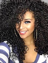 cheap -Synthetic Wig Afro Curly Asymmetrical Wig Long Black Synthetic Hair 20 inch Women's Exquisite Romantic Fluffy Black