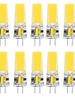 cheap -10pcs 10 W LED Silica Gel Corn Lights LED Bi-pin Lights  G4 2508COB High Power LED Creative Party Decorative Crystal Chandelier Light source Energy-saving Light Bulbs Warm White White AC/DC12 V