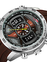 cheap -KT Men's Sport Watch Quartz Sporty Army Water Resistant / Waterproof Silicone Black Analog - Digital - White Blue Gold / Japanese / Calendar / date / day / Chronograph / Noctilucent / Japanese