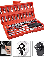 cheap -46 in 1 auto repair set wrench professional auto protection sleeve package connecting rod ratchet car repair combination
