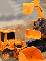 cheap -Excavator Toy Construction Truck Toys Pull Back Car / Inertia Car Dump Truck Bulldozer Simulation Drop-resistant Plastic Mini Car Vehicles Toys for Party Favor or Kids Birthday Gift / Kid's