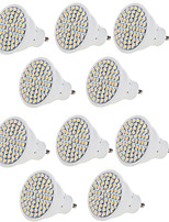 cheap -10pcs Lampada LED Bulb MR16 GU10 Bombillas LED Lamp 220V 240V 2835 SMD 60 LED Spotlight Indoor Lightint