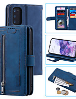 cheap -Case For Samsung Galaxy S20 Card Holder / Shockproof / Flip Full Body Cases Solid Colored PU Leather / TPU