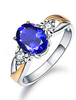 cheap -Women's Ring Cubic Zirconia 1pc White Gold Alloy Round Luxury Vintage Wedding Engagement Jewelry Lovely