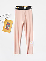 cheap -Kids Girls' Basic Daisy Solid Colored Print Pants Black