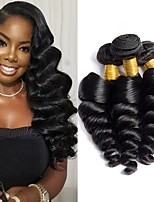 cheap -3 Bundles Hair Weaves Brazilian Hair Loose Wave Human Hair Extensions Remy Human Hair 100% Remy Hair Weave Bundles 300 g Natural Color Hair Weaves / Hair Bulk Human Hair Extensions 8-28 inch Natural