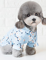 cheap -Dog Hoodie Pajamas Flower Casual / Sporty Cute Wedding Casual / Daily Dog Clothes Breathable Blue Pink Costume Polyester S M L XL XXL