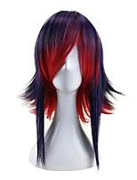 cheap -Cosplay Costume Wig Synthetic Wig Cosplay Wig Straight Cosplay Side Part Wig Short Black / Red Black / Brown Synthetic Hair 12 inch Men's Cosplay Mixed Color hairjoy