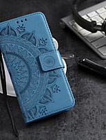 cheap -Case For Samsung GalaxyA9 2018 A3 A5 A8 2018 A8plus 2018 A80 A90 NOTE8 NOTE10 NOTE10 PRO Card Holder Flip Pattern Full Body Cases Flower PU Leather TPU