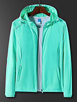cheap -Women's Hiking Jacket Outdoor Breathable Ultraviolet Resistant Soft Stretchy Top Spandex Violet / White / Light Green / Light Purple / Rose Red