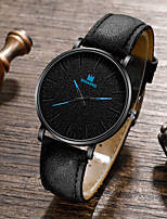 cheap -Men's Sport Watch Quartz Vintage Style Stylish Classic Altimeter PU Leather Black / Brown / Chocolate Analog - White Black Blue / Chronograph / Large Dial