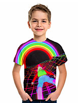 cheap -Kids Boys' Basic Holiday Rainbow Short Sleeve Tee Rainbow