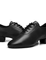 cheap -Women's Dance Shoes Latin Shoes Heel Cuban Heel Black / Leather
