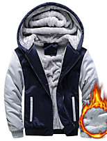 cheap -Men's Pullover Hiking Fleece Jacket Hoodie Jacket Workout Winter Outdoor Full Zip Windproof Fleece Lining Breathable Warm Jacket Top Cotton Camping Hiking Hunting Fishing Black Red Blue Grey