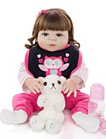 cheap -KEIUMI 22 inch Reborn Doll Baby & Toddler Toy Reborn Toddler Doll Baby Girl Gift Cute Washable Lovely Parent-Child Interaction Full Body Silicone 23D09-C89-H28-T19 with Clothes and Accessories for