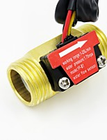 cheap -Pure Copper Water Flow Sensor 1.75Mpa G1/2 Pulse Hall Flow Meter Switch Counter Indicator 1-25L/Min