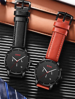 cheap -DOM Men's Sport Watch Quartz Modern Style Sporty Casual Water Resistant / Waterproof Leather Black Analog - Black Red / Stainless Steel / Calendar / date / day