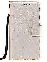 cheap -Case For Sony Xperia XA1 XA2 XZ XZ1 Z5 Card Holder Flip Pattern Full Body Cases cat sakura flower animal PU Leather TPU