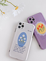 cheap -Case For Apple iPhone 7 8 7plus 8plus X XR XS XSMax SE(2020) iPhone 11 11Pro 11ProMax Shockproof Pattern Back Cover Word Phrase Flower Cartoon TPU