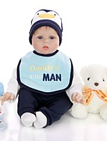 cheap -KEIUMI 22 inch Reborn Doll Baby & Toddler Toy Reborn Toddler Doll Baby Boy Gift Cute Lovely Parent-Child Interaction Tipped and Sealed Nails Half Silicone and Cloth Body with Clothes and Accessories