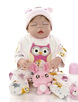 cheap -KEIUMI 22 inch Reborn Doll Baby & Toddler Toy Reborn Toddler Doll Baby Girl Gift Cute Lovely Parent-Child Interaction Tipped and Sealed Nails Full Body Silicone 23D36-C57-T01 with Clothes and