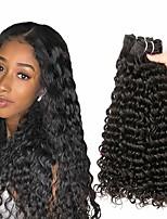 cheap -3 Bundles Hair Weaves Brazilian Hair Deep Wave Human Hair Extensions Remy Human Hair 100% Remy Hair Weave Bundles 300 g Natural Color Hair Weaves / Hair Bulk Human Hair Extensions 8-28 inch Natural