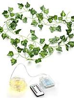 cheap -100LED 10m Simulation Rattan Wall Hanging Ornament Artificial Plants Creeper Vine Plastic Green Leaf Ivy DIY Wedding Garland Decor