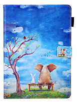 cheap -Case For Samsung Galaxy Galaxy Tab A 10.5 T595 T590 360 Rotation  Shockproof  Magnetic Full Body Cases Word Phrase  Butterfly  Panda PU Leather  TPU