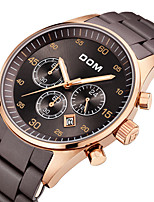 cheap -DOM Men's Sport Watch Quartz Sporty Outdoor Water Resistant / Waterproof Rubber Analog - Coffee / Stainless Steel / Japanese