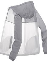 cheap -Men's Women's Hiking Jacket Hiking Windbreaker Outdoor Sunscreen Breathable Quick Dry Ventilation Jacket Hoodie Top Camping / Hiking Fishing Climbing Black / Blue / Pink / Grey / Green / Summer