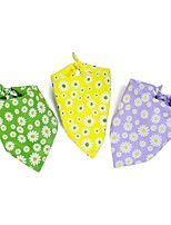 cheap -Dog Cat Bandanas & Hats Dog Bandana Dog Bibs Scarf Flower Casual / Sporty Cute Party Sports Dog Clothes Adjustable Purple Yellow Green Costume Polyster L
