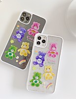 cheap -Case For APPLE iPhone 7 8 7plus 8plus XR XS XSMAX X SE 11 11Pro 11ProMax Pattern Back Cover PC bear word phrase flower rainbow cute