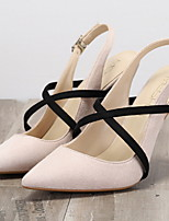 cheap -Women's Heels / Sandals Spring / Summer Stiletto Heel Pointed Toe Daily PU Nude