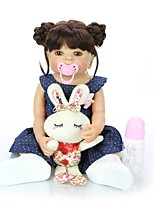 cheap -KEIUMI 22 inch Reborn Doll Baby & Toddler Toy Reborn Toddler Doll Baby Girl Gift Cute Washable Lovely Parent-Child Interaction Full Body Silicone 22D05-C330-S07-T23 with Clothes and Accessories for