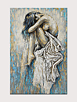 cheap -Hand Painted Abstract Nude Girl Art Canvas Oil painting Charming Nude Girl Beauty Lady Female Nude for Home Wall Decor