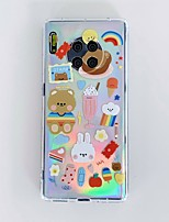 cheap -Case for Huawei P 30 30pro 40 40pro Mate 30 30pro Transparent Back Cover Word Phrase Cartoon TPU