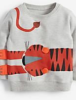 cheap -Kids Boys' Street chic Geometric Long Sleeve Hoodie & Sweatshirt Gray