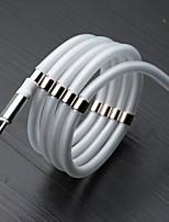 Недорогие -магнитный самоорганизующийся кабель поглощения данных кабель зарядного устройства 360-градусный магнитный кабель для зарядки micro usb type c быстрое и простое хранение флуоресценция