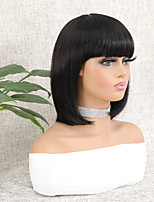 cheap -Wig Short Natural Straight Bob Natural Best Quality Hot Sale Capless Brazilian Hair Women's Natural Black #1B 8 inch 10 inch 12 inch