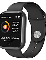cheap -696 T80S Unisex Smartwatch Smart Wristbands Android iOS Bluetooth Heart Rate Monitor Blood Pressure Measurement Thermometer Information Message Control Activity Tracker Sleep Tracker Sedentary