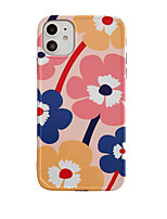cheap -Case For Apple scene graph iPhone 11 11 Pro 11 Pro MaxPhoto frame private model series flower pattern TPU material IMD process fine matte mobile phone case