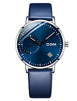 cheap -DOM Men's Sport Watch Quartz Modern Style Sporty Casual Water Resistant / Waterproof Stainless Steel Leather Analog - Black+Gloden Black Blue